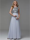 povoljno Večernje haljine-A-kroj Ovalni izrez Do poda Šifon / Sa šljokicama Sjaji i svijetli Prom / Formalna večer Haljina s Šljokice po TS Couture®
