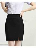 tanie Damska spódnica-Damskie Bodycon Spódnice - Praca Solidne kolory Wysoka talia