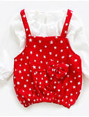 cheap Girls' Dresses-Toddler Girls' Ruffle Polka Dot Long Sleeve Dress / Cotton