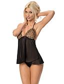cheap Sexy Bodies-Women's Suits Nightwear - Mesh Leopard