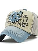 abordables Sombreros de  Moda-Hombre Algodón Gorra de Béisbol - Vintage Activo Básico Bloques
