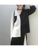 povoljno Ženski jednodijelni kostimi-Majica Žene Izlasci Color block Kragna košulje