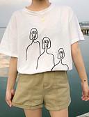 זול טרנינגים וקפוצ'ונים לנשים-חולצה לנשים - צוואר גיאומטרי עגול