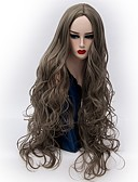 cheap Panties-Synthetic Wig Wavy Middle Part Synthetic Hair Hot Sale Gray Wig Women's Very Long Machine Made / Yes