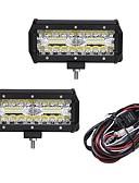 cheap Men's Tees & Tank Tops-OTOLAMPARA 2pcs Car Light Bulbs 120W Integrated LED Work Light Bar Spot Flood Combo Offroad SUV ATV Driving Lamp 40LED 12000lm 6000K 1-To-2 Wiring Harness Kit