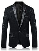 cheap Men's Blazers & Suits-Men's Party Daily Business Casual Blazer-Color Block Peaked Lapel / Please choose one size larger according to your normal size.