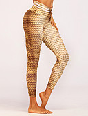 billige Leggings-Dame Basale Sports Legging - Geometrisk Medium Talje