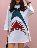 ieftine Tricou-Pentru femei Tricou Bumbac Animal