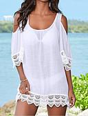 זול 2017ביקיני ובגדי ים-מידה אחת אחיד, בגדי ים כיסוי חוטיני Bandeau לבן שחור סירה מתחת לכתפיים בסיסי בגדי ריקוד נשים