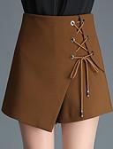 povoljno Ženski sakoi i jakne-Žene Aktivan Veći konfekcijski brojevi Širok kroj Kratke hlače Hlače - Jednobojni Visoki struk Braon