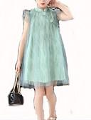povoljno Haljine za djevojčice-Djeca Djevojčice slatko Jednobojni Bez rukávů Haljina Blushing Pink 140