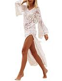 ieftine Dresses For Date-Pentru femei Boho Teacă Rochie - Dantelă, Mată Asimetric