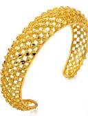 cheap Women's Fur Coats-Women's Bangles / Cuff Bracelet - Gold Plated Ethnic Bracelet Gold For Party / Gift
