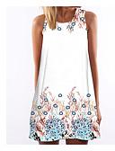 ieftine Print Dresses-Pentru femei Bumbac Pantaloni - Animal Imprimeu Alb / Mini / Concediu