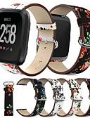 voordelige Smartwatch-banden-Horlogeband voor Fitbit Versa Fitbit Klassieke gesp Echt leer Polsband