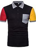 baratos Pólos Masculinas-Homens Polo Estampa Colorida Algodão Colarinho de Camisa / Por favor, sempre escolha um número maior que o seu número normal.