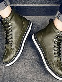 cheap Sport Watches-Men's Combat Boots PU(Polyurethane) Winter Comfort Boots Booties / Ankle Boots Black / Orange / Dark Green