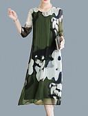 ieftine Rochii de Damă-Pentru femei Vintage / Șic Stradă Linie A / Shift Rochie - Imprimeu, Floral Midi