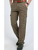 povoljno Muške duge i kratke hlače-Muškarci Sportski Širok kroj Chinos Hlače - Jednobojni Osnovni Crn