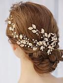 رخيصةأون فساتين زفاف-سبيكة فرش تمشيط للشعر مع لؤلؤ / كريستال / أحجار الراين 1 قطعة زفاف / مناسبة خاصة خوذة