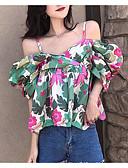 baratos Blusas Femininas-Mulheres Camisa Social Geométrica Com Alças