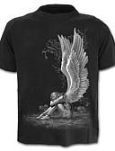 abordables Relojes de Vestir-Hombre Chic de Calle / Exagerado Tallas Grandes Estampado - Algodón Camiseta Bloques / Retrato / Manga Corta