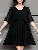 ieftine Eșarfe la Modă-Pentru femei Mărime Plus Size Ieșire Zvelt Teacă Rochie Mată În V Sub Genunchi