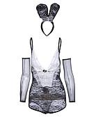 abordables Ropa de Cama de Mujer-Mujer Traje / Uniforme y Cheongsam Ropa de dormir - Espalda Cruzada, Bloques