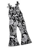 זול חולצות לבנות-Samgami Baby גב חשוף שרוכים לכל האורך דפוס חיצוני מחנאות ל קיץ שחור / כותנה / גיאומטרי / חמוד / בסיסי / ליציאה
