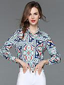 baratos Camisas Femininas-Mulheres Camisa Social Moda de Rua Floral