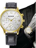 זול שעוני יוקרה-בגדי ריקוד גברים שעון יד קווארץ כרונוגרף עור להקה אנלוגי פאר אלגנטית שחור / חום - שחור חום שנה אחת חיי סוללה / SSUO LR626