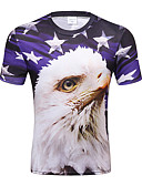 abordables Sudaderas de Hombre-Hombre Básico / Chic de Calle Estampado Camiseta Bloques / Animal