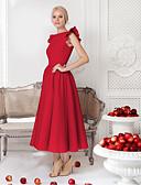 זול שמלות NYE-מידי אחיד - שמלה גזרת A Party / ליציאה בגדי ריקוד נשים / קיץ