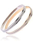 cheap Quartz Watches-Women's Bracelet Bangles - Stainless Simple, Fashion Bracelet Silver / Rose Gold For Daily Birthday / 2pcs
