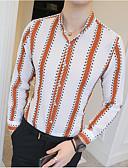 זול חולצות לגברים-פסים עסקים חולצה - בגדי ריקוד גברים דפוס