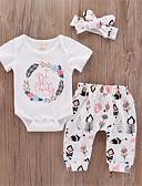 זול סטים של ביגוד לתינוקות-סט של בגדים שרוולים קצרים דפוס בנות תִינוֹק