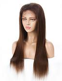 halpa Hääpuvut-Remy-hius Lace Front Peruukki Brasilialainen Suora Peruukki 130% Hiusten tiheys ja vauvan hiukset Valkaistut solmut Naisten Pitkä Aitohiusperuukit verkolla