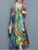 זול חליפות שני חלקים לנשים-שמלות קשת - סט ארוך משוחרר ליציאה מידות גדולות בגדי ריקוד נשים
