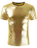 billige T-skjorter og singleter til herrer-Bomull Tynn Rund hals T-skjorte Herre - Ensfarget / Vennligst velg én størrelse over din normale størrelse. / Kortermet