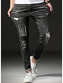 ieftine Pantaloni Bărbați si Pantaloni Scurți-Bărbați Bumbac Blugi Pantaloni Geometric