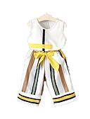 billige Dansetøj til børn-Baby Pige Stribet Uden ærmer Tøjsæt