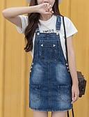 ieftine Rochii de Damă-Pentru femei Vintage Mărime Plus Size Bumbac Pantaloni - Mată / Geometric Albastru & Alb, Plisată Albastru piscină / Mâneci Bufante
