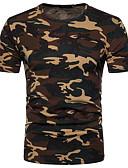 povoljno Muške majice i potkošulje-Majica s rukavima Muškarci Dnevno kamuflaža