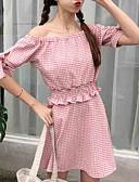 זול טרנינגים וקפוצ'ונים לנשים-חצאית משובץ דמקה - סט בגדי ריקוד נשים