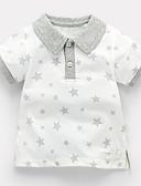 Χαμηλού Κόστους Βρεφικά Για Αγόρια μπλουζάκια-Μωρό Αγορίστικα Βασικό Καθημερινά Γαλαξίας Patchwork Κοντομάνικο Κανονικό Βαμβάκι / Πολυεστέρας Κοντομάνικο Λευκό / Νήπιο