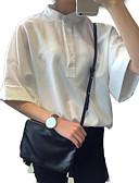 رخيصةأون ملابس السباحة والبيكيني 2017 للنساء-نسائي قميص مرتفعة لون سادة, مناسب للخارج
