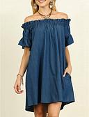 olcso Molett ruhák-Női A-vonalú Ruha - Kollázs, Egyszínű Térd feletti