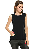 cheap Women's T-shirts-Women's Going out Tank Top - Solid Colored