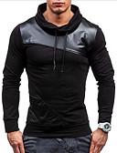 cheap Men's Hoodies & Sweatshirts-Men's Basic / Street chic Long Sleeve Slim Sweatshirt - Color Block Turtleneck White L / Fall