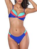 preiswerte Bikinis und Bademode 2017-Damen Bikinis Einfarbig Gurt Cheeky-Bikinihose